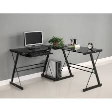 corner computer desk office depot. walker edison soreno 3 piece corner desk black with computer grommets office depot officemax small desks n