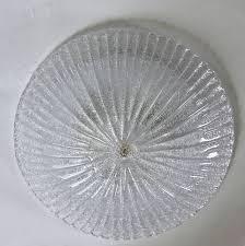 Glass Flush Mount Ceiling Light Pair Murano Rugiadoso Clear Glass Flush Mount Ceiling Lights