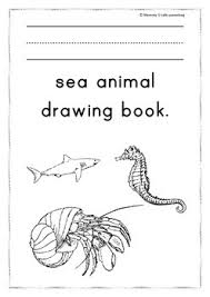 this ten paged sea drawing book enables children to copy over the name of the sea and then draw the in the box provided