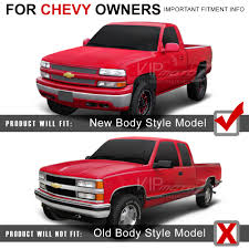 Pickup 99 chevy pickup : Built-In LED Chevy Silverado 99-02 Truck SS 1500/2500 Replacement ...