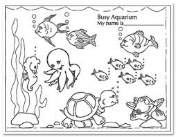 Small Picture Busy Aquarium Coloring Pages for kindergarten Enjoy Coloring