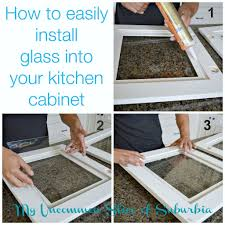 How To Add Glass Inserts Into Your Kitchen Cabinets Diy Diy