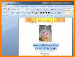 How To Make An Invitation On Microsoft Word How To Make Invitations