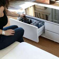 coffee table with led lights smart coffee table w fridge speakers led lights and charging ports