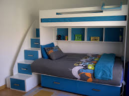 Galaxy Bunk Bed - Double lower bunk with storage, Single top bunk, cubbies  and