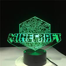 Minecraft Led Light Kids Led Night Light Minecraft Nightlight For Children