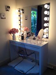 makeup vanity lighting ideas. Makeup Vanities For With Lights Ideas Vanity Set Bedroom Best Pictures Exciting White And Sweet Floral Arrangement Plus Glass Chair Mirrored Lighting D