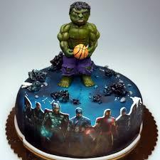 Avengers And Incredible Hulk Cake Birthday Cake London