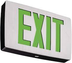 Lithonia Lighting Exit Signs Lithonia Lighting Lqc 2 G 3w Led Exit Sign White Amazon Com