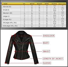Wilsons Leather Size Chart Size Chart Hasbro Leather Top Quality Bikers Leather