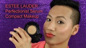 estee lauder perfectionist serum pact makeup review demo hueyyrouge