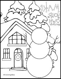 Winter Color Pages For Preschoolers Printable Preschool Coloring ...