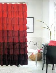 black white and red shower curtain. get quotations · dainty home flamenco ruffled shower curtain, 72 by 72-inch, black/white black white and red curtain w