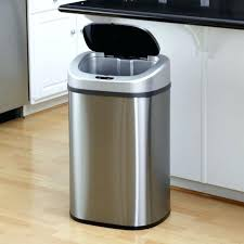 kitchen trash can with lid. Amazing Kitchen Trashcan 1 Gallon Sensor Intended For Stainless Steel Trash 13 Can With Lid Locking A