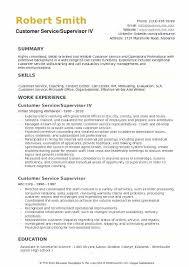 Supervisor Resume Sample Free Ideas Customer Service Supervisor Resume Samples And Level Ii