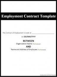 Free Employment Contract Templates Sample Employment Contract Template