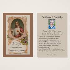 Funeral Remembrance Cards Catholic Funeral Memorial Prayer Holy Card