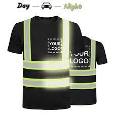 Hi Vis T Shirt Design High Visibility Reflective Safety Shirts Custom Your Logo Hi Vis T Shirts Neon Quick Dry Outdoor Work Shirts Xl Black Style 4