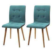 frida fabric teal dining chairs