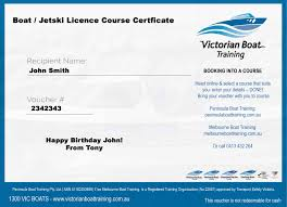 Victorian Licence Boat Training Radio And Centre Gift – Course Certificate Marine