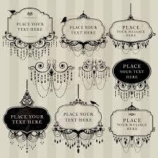 clip vintage chandelier frame wedding digital brush chandelier diy invitation art photo vintage