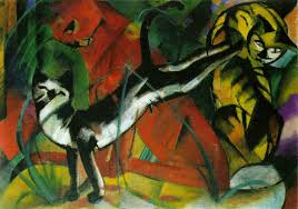 three cats 1913 franz marc