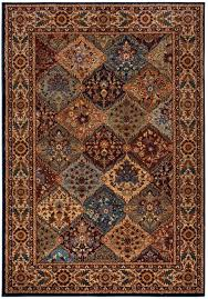 new bellevue soft rectangular area rug 5 3 x 7 7 khaki brown burdy red blue