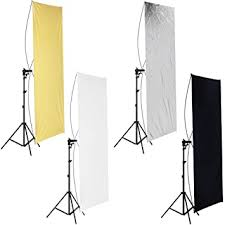 90 x 180cm <b>Photo Studio</b> Gold/Silver & Black/White Flat <b>Panel</b> Light ...