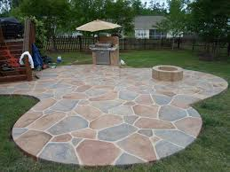 backyard stamped concrete patio ideas on a budget