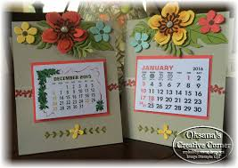 3d Paper Flower Calendar Oksanas Creative Corner December 2015