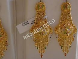 previous gold chandelier earrings