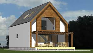 Wooden house with thermosystem + exterior plaster- 100m2 -48000