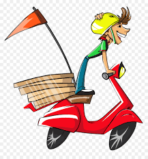 pizza delivery clipart. Plain Delivery Pizza Delivery Clip Art  Delivery Boy Vector In Clipart
