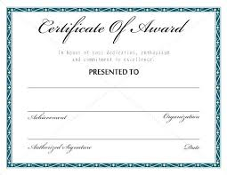 free recognition certificates certificate award template templates of wording free
