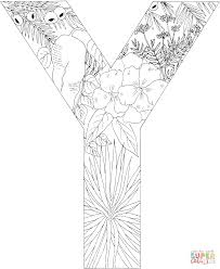Letter Y Coloring Pages Free Color Bros