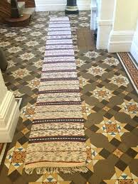 rag rug runner unknown designer vintage cotton rag rug handmade hallway runner