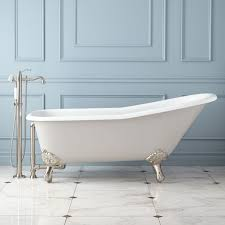 72 lena cast iron clawfoot tub monarch imperial feet dark gray bathroom