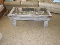 coffee table coastal shadow box style displ