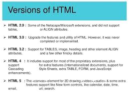 What are the versions of HTML and XHTML - YouTube