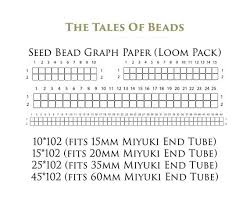 Seed Bead Graph Paper For Miyuki Delica Size 11 0 Numbered Etsy