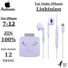 BH 18 Tháng Tai Nghe Iphone 7 Plus 8 Plus X Xs Max 11 12 Promax Chính Hãng  Chân Lightning