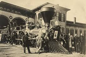 abraham lincoln funeral procession. picture of a locomotive in ohio that drew the licoln funeral train for leg abraham lincoln procession m