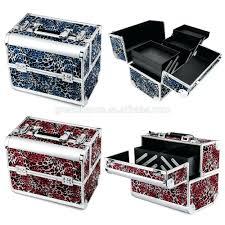 professional makeup vanity case india aluminium leopard cosmetic make up big box jewellery