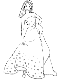 Coloring pages for girls photos and pictures collection that posted here was carefully selected and uploaded by rockymage team after choosing the ones that are best among the others. Wedding Dress Coloring Pages Coloring Home