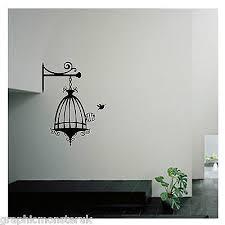 birdcage with bird shabby chic cut