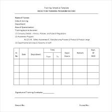 Training Templates For Word Training Schedule Program Template Curriculum Design Sample