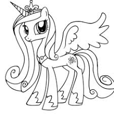 Small Picture Princess Cadence Colouring Pages