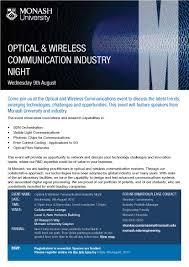 Monash Communication Design Monash Engineering Is Hosting An Optical And Wireless