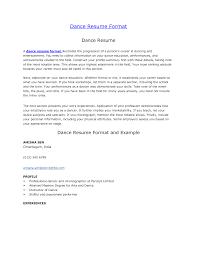 Cover Letter Dance Teacher Resume Dance Instructors Resume