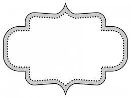 白黒のラベル風デザイン飾り枠フレームイラスト03 無料イラスト